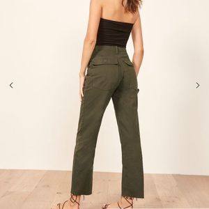 Reformation Pants - Reformation Utility Pants in Green $148
